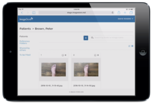 Epitomyze Capture App integration with ImageStore cloud storage for clinical photography