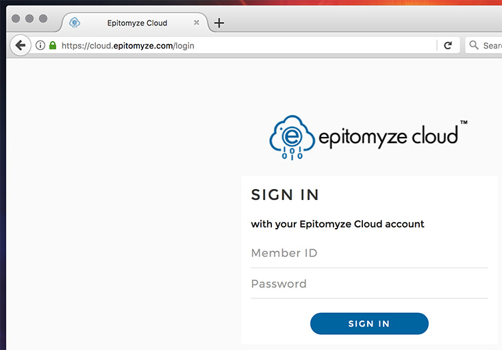 Epitomyze Cloud™ Sign-In